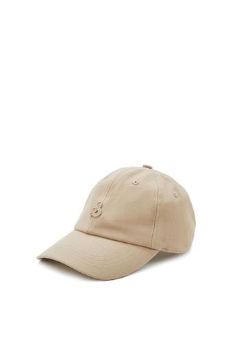 URBAN REVIVO beige Twill Cap EE3A6AC0DCCF74GS_1