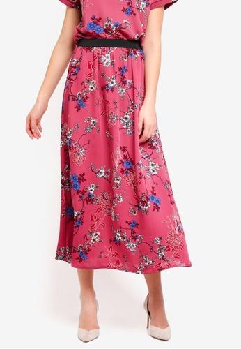 Vero Moda red Katinka Skirt 11CE7AA3ACFD9EGS_1