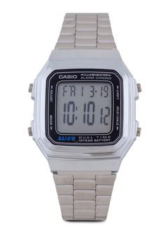 【ZALORA】 Casio A178WA-1ADF 不銹鋼電子錶