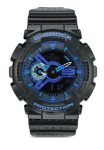 Jual G-Shock Casio G-SHOCK Jam Tangan Pria - Black Blue - Resin - GA ... c91af99bef