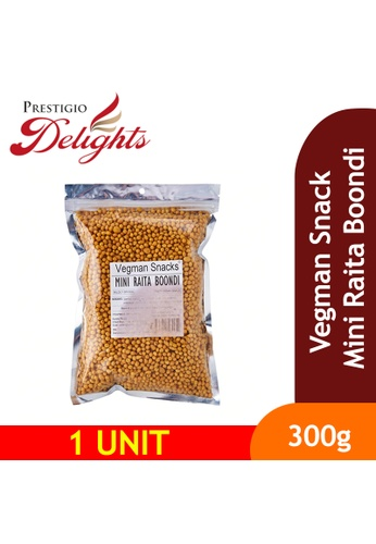 Prestigio Delights black Vegman Snacks Mini Raita Boondi 300g 9839DES7F92257GS_1