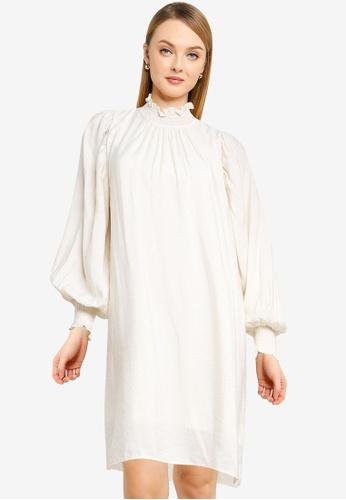 Vero Moda beige Dua Long Sleeve Dress 24E1AAA730E2BAGS_1