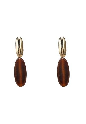 niko and ... brown Drop Earrings D2444ACC76F382GS_1