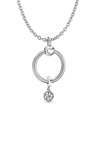 Pandora silver Pandora Snowflake Necklace Set 4447EAC525E1F1GS_1