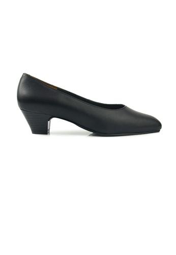 SHINE black SHINE Genuine Leather Point Toe Pumps 9E870SH885A821GS_1