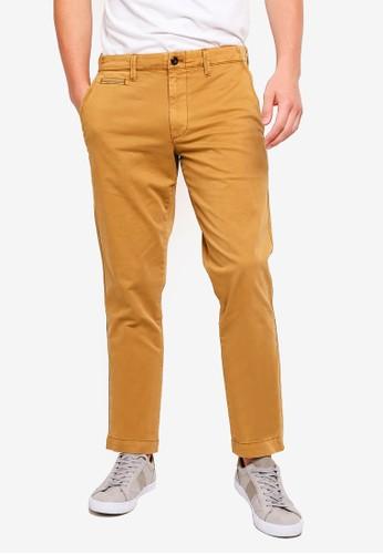 GAP brown Slim Vintage Wash Pants 501A6AAA2ABF21GS_1