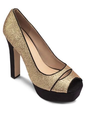 閃飾魚口zalora 男鞋 評價厚底高跟鞋, 女鞋, 鞋