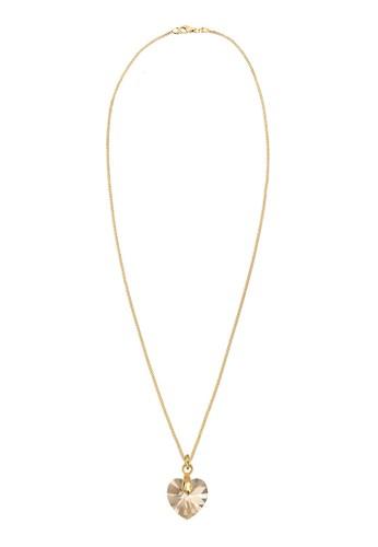 925 心形施華洛奇晶鑽墜esprit outlet飾項鍊, 飾品配件, 項鍊