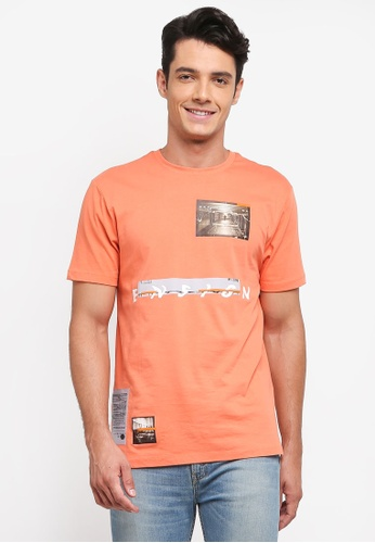 Topman orange Coral Ensign T-Shirt 3C704AA263B9ADGS_1