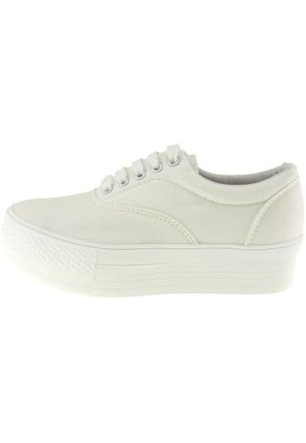 Maxstar 白色 新款韩国鞋C40-5H時尚帆布布混合女白色 US Women Size MA345SH68HFZTW_1