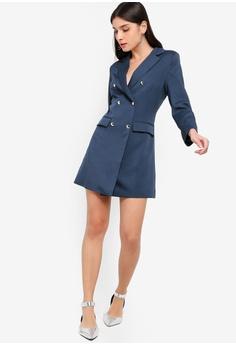 a48161c7ac86 ZALORA Double Breasted Blazer Dress S  49.90. Sizes XS S M L XL