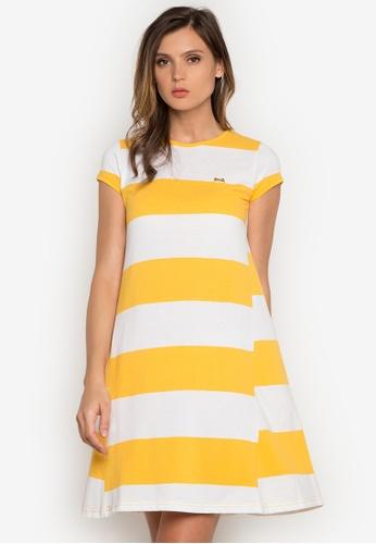 Le Tigre yellow Ladies Dress LE798AA0K41WPH_1