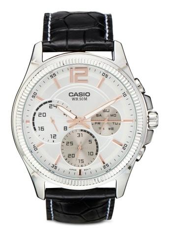 Casio black Casio Enticer Analog White Dial Men's Watch - MTP-E305L-7AVDF CA843AC68XZVMY_1