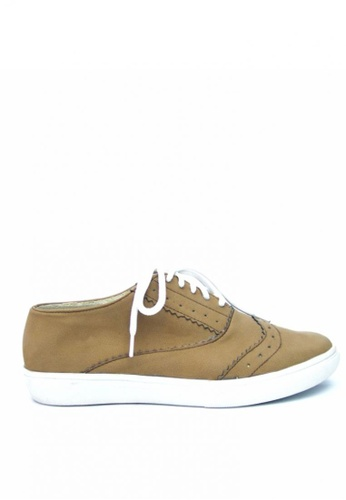Ohrelle brown Monica Sneakers by Ohrelle OH449SH98LAZPH_1