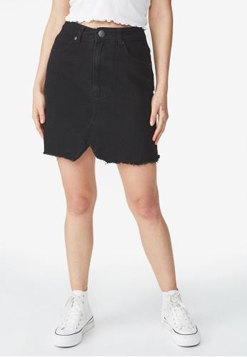 Cotton On black The Remade Mini Denim Skirt FCE55AA479D3C0GS_1