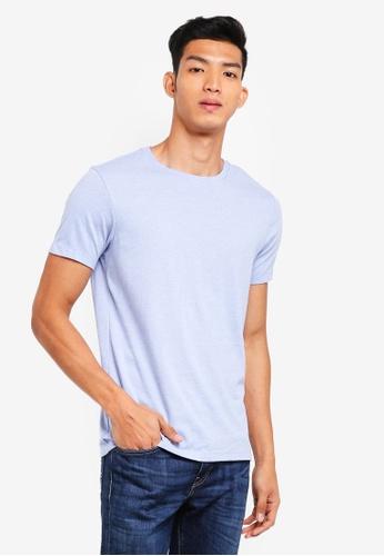 J.Crew blue Slim Broken Heather T-Shirt C1835AA9F11638GS_1