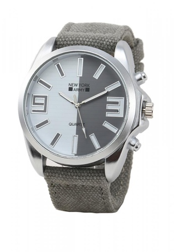 Greatvalueplus grey Maynard Men's Analog Nylon Watch NYA321 62ED9AC0BB8628GS_1