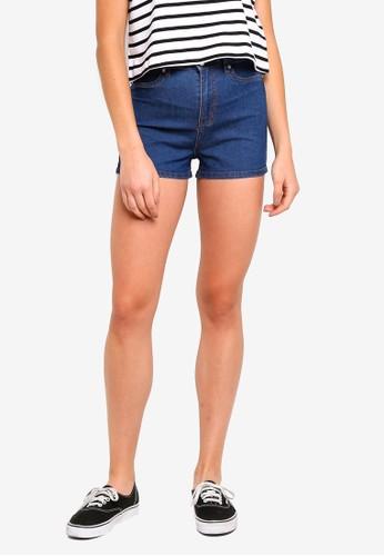 Factorie blue Denim Stretch Shorts 23819AA59A7EC4GS_1
