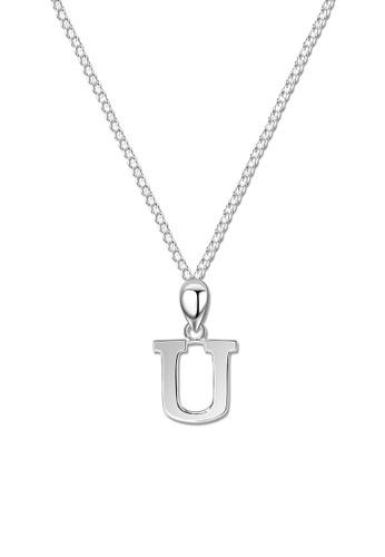 SC Tom Silver silver Letter Pendant with Chain SC872AC0J6GCPH_1