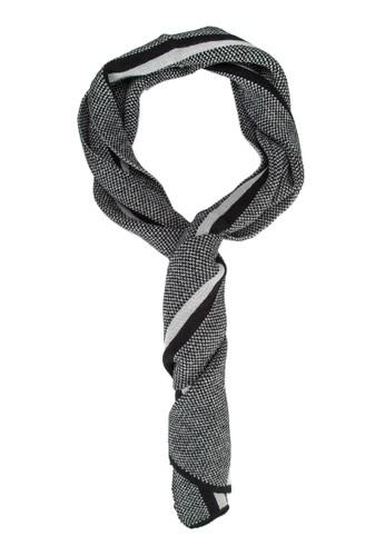 男性混合紗條紋拼接圍巾, 飾品配件, 飾品配esprit 面試件