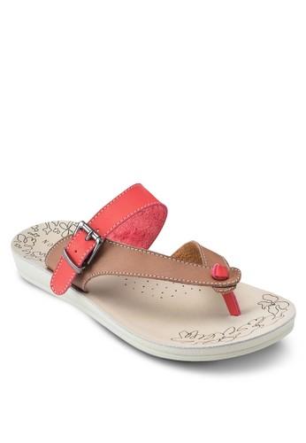撞esprit hk色休閒夾腳涼鞋, 女鞋, 鞋