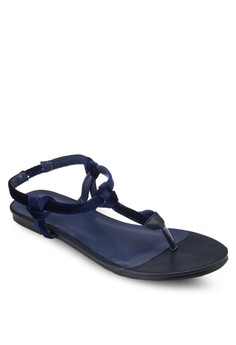 T Strap Knotted Thong Sandal
