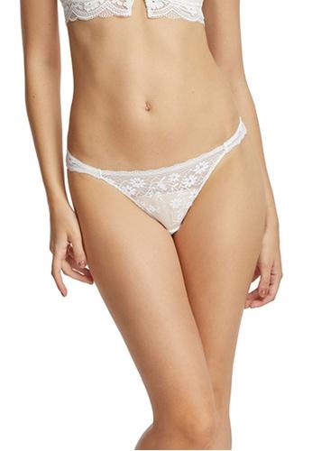 6IXTY8IGHT white Lace Low-rise Bikini Briefs PT09250 4C9ADUS25D526CGS_1