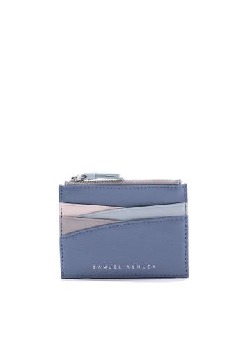 Samuel Ashley blue Iris Top-zip Card Holder - Blue Ash B6E87AC2D3A397GS_1