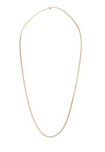 Prestige Collective gold Prestige C.O.G Rounded Box Chain Necklace 9A639AC165EBD9GS_1