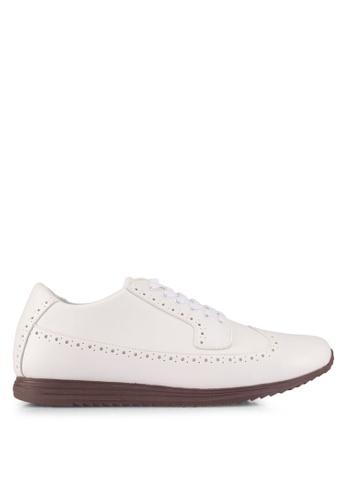 ZALORA white Faux Material Oxford Sneakers E23C1SH78CCD33GS_1