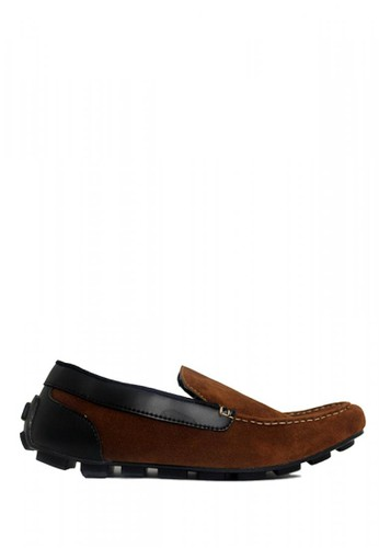 D-Island brown D-Island Shoes Slip On Mocasine Casual Loafers Brown F838ESH62EDA62GS_1