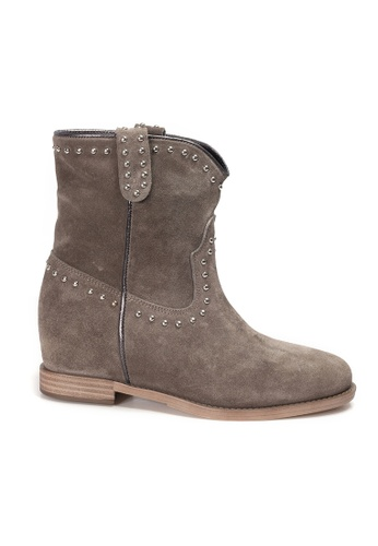 Shu Talk grey INUOVO Suede Leather Ankle boots 85A48SHEE31E74GS_1