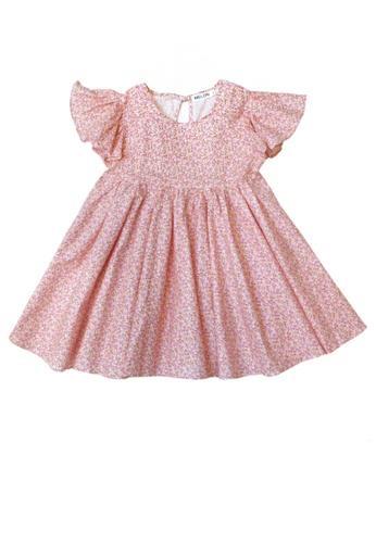 MELON pink EMPIRE DRESS ROSE PINK WITH SPRINKLES 5B578KA5ADE86DGS_1