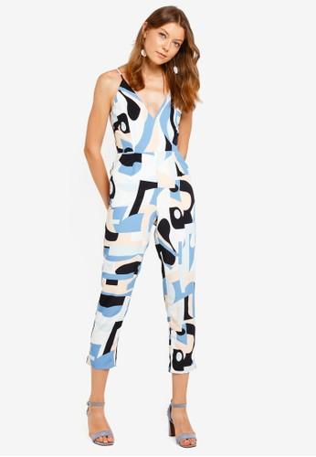 Lavish Alice blue and multi Pastel Abstract Print High Apex Jumpsuit 8A973AAD20578CGS_1