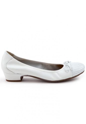 Shu Talk white Elegant Calf Round Toe Low Heel Shoes SH397SH0FPKMSG_1