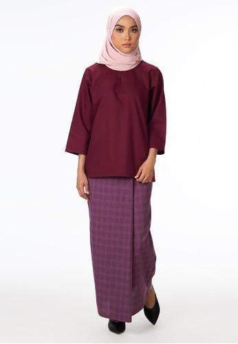 House Of Olsha purple Signature Kantan Kurung Kedah - Deep Purple E0035AAEC9E26AGS_1