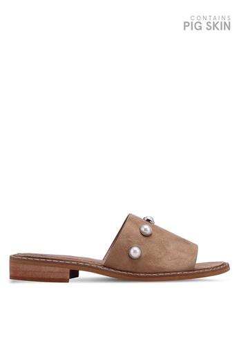 c4f9115c1a6 Buy Vanessa Wu Pearl Embellished Slip On Sandals Online On Zalora