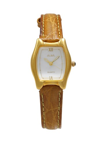 Alba brown ALBA Jam Tangan Wanita - Brown Gold White - Leather Strap - ATCX18 B8BF7ACBF8DB74GS_1