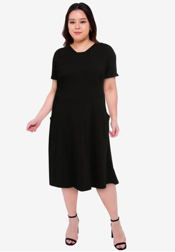 Dorothy Perkins black Plus Size Black T-shirt Dress 1E603AAEFE8D4FGS_1