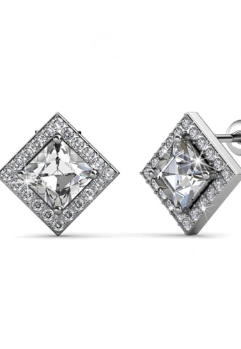 Her Jewellery silver Her Jewellery Squarish Earrings with Premium Grade Crystals from Austria FDDCAAC4372427GS_1