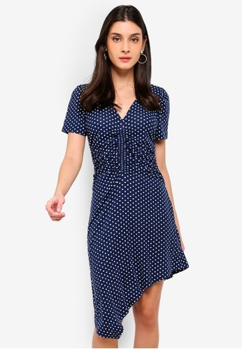 Angeleye navy Cacey Dress 9438FAAAB49F01GS_1