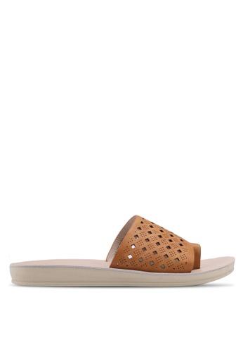 Noveni brown Slide On Sandals 481F2SH57F5EDEGS_1