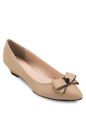 蝴蝶結低楔形鞋, 女鞋, 厚esprit outlet 台灣底楔形鞋