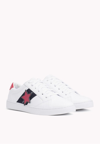 e6c263c8e0d8 Tommy Hilfiger white TOMMY PLAYFUL BADGE SNEAKER E9CE6SHD2D14E5GS 1