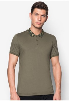 Polo With Camo Collar