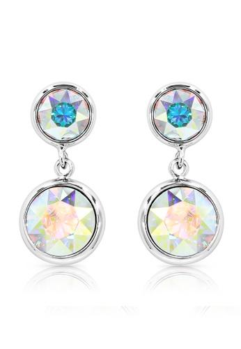 SO SEOUL silver Bella Double Aurore Boreale Swarovski® Crystal Dangle Earrings 442CDACE657E26GS_1