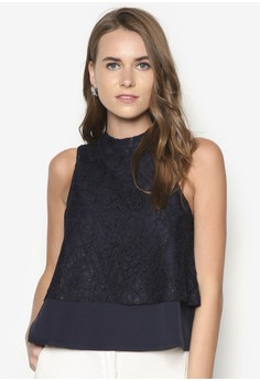 Premium Layered Top With Neckline Detail