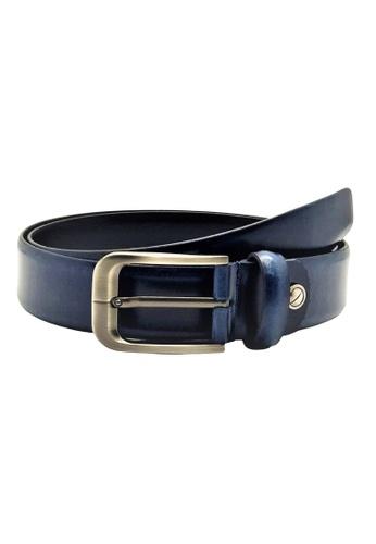 Oxhide blue Blue Formal Belt Men - Real Leather - Business / Office wear belt - S30 Blue 44782AC2407351GS_1