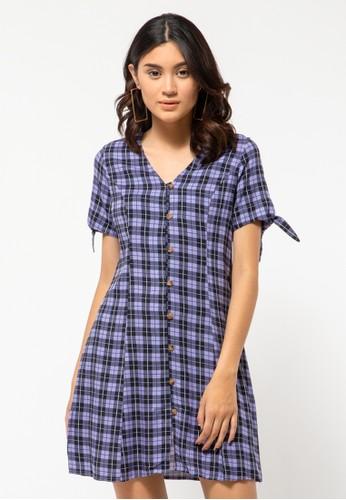 COLORBOX purple Rayon Mini Dress BDD15AA8F9FDDEGS_1