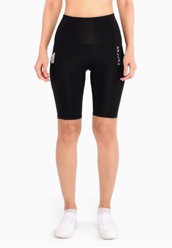 Hallah black Gazelle Biker Shorts 963BEAA68E6816GS_1